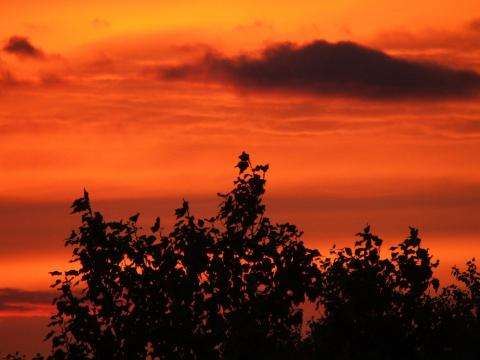 Закат в Мытищах